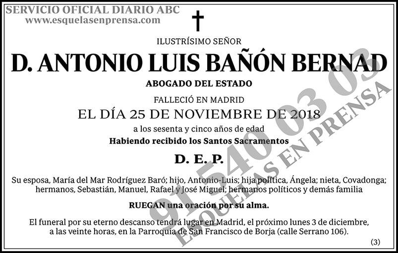 Antonio Luis Bañón Bernad